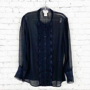 Soft Surroundings Black Long Sleeves Blouse, SZ L